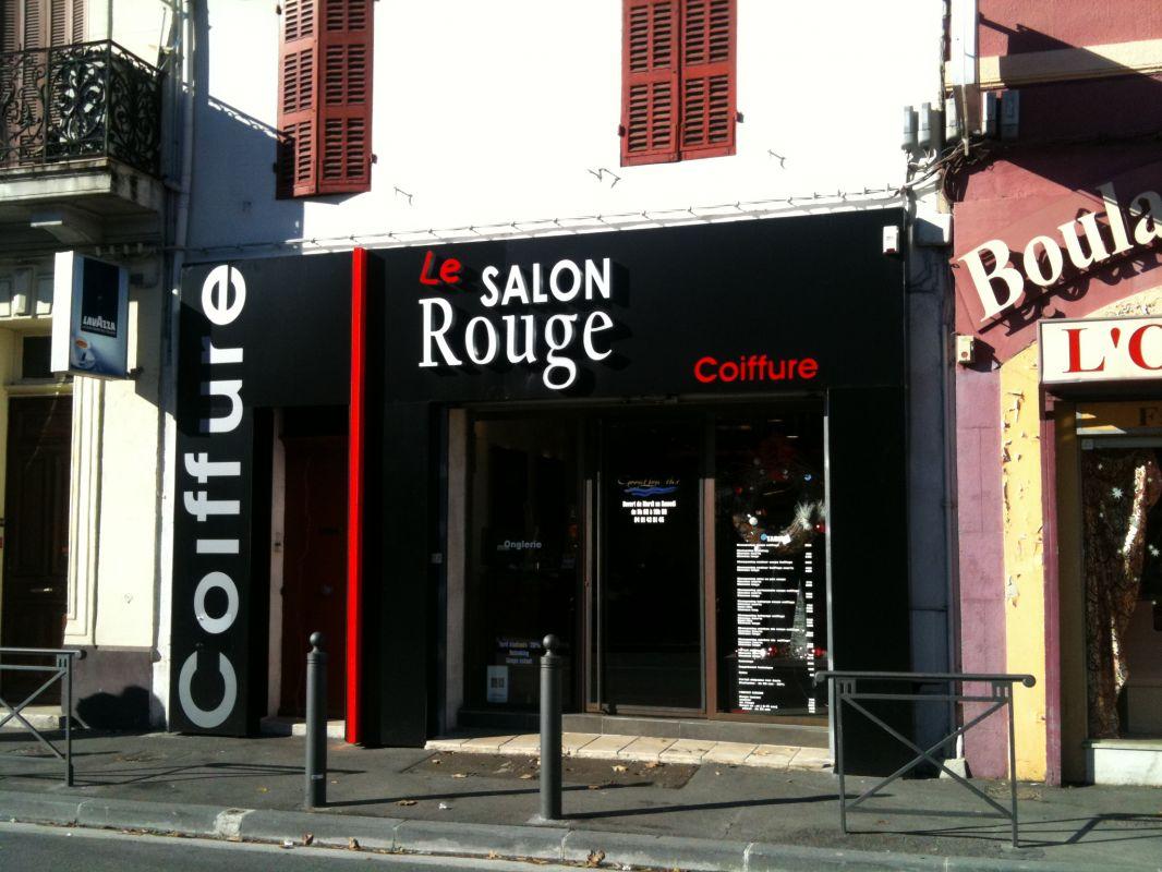 Habillage de fa ade et enseigne pour salon de coiffure for Enseigne exterieur pas cher